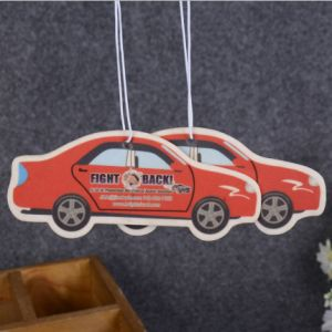 Custom Car Shape Hanging Paper Air Freshener pictures & photos