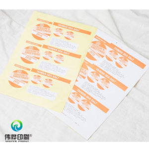 Customized Offset Printing Paper Adhesive Sticker / Label pictures & photos