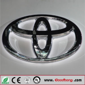 Customized Acrylic Base LED Car Logo, Car Logo Sign with LED Insided pictures & photos