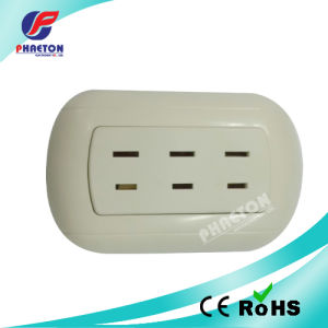 Flat 6 Pin South American Wall Socket Plate pictures & photos