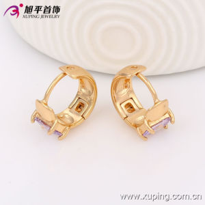 90267 Recent Fashion Elegant 18k Gold-Plated Crystal Jewelry Earring Hoops for Lady′s Best Gifts pictures & photos