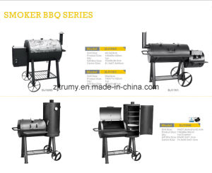 Outdoor Charcoal Barbecue Grill with Wheels pictures & photos
