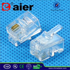 Rj 11 Telephone Plug /Modual Plug 4p2c pictures & photos