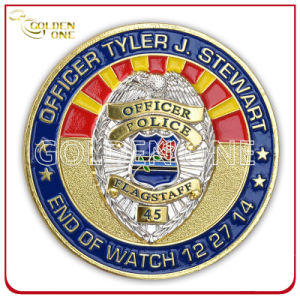 Soft Enamel Custom 3D Logo Police Challenge Coin pictures & photos