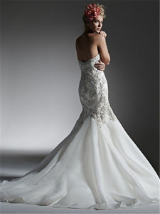 Mermaid/Trumpet Beading Wedding Dress with Bridal Gown, Customized pictures & photos