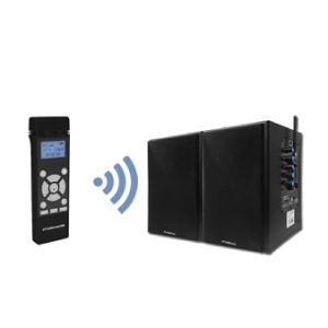 Professional 2.4GHz Wireless Microphone and Black Speaker System pictures & photos