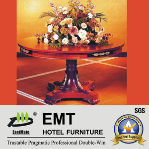Star Hotel Luxurious Wooden Flower Stand Table (EMT-FD08) pictures & photos