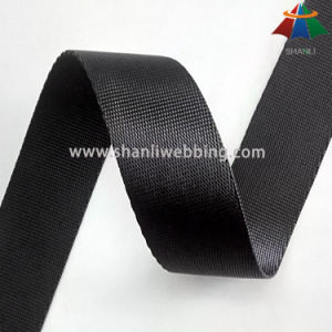 25mm Black High Strength Polyester Webbing pictures & photos