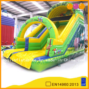 Giant Cartoon Theme Green Inflatable Slide Toys for Kids (AQ922-1) pictures & photos