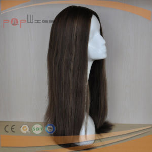 Charming Black Color Skin Top Hand Tied Full Lace Base Human Hair Wig pictures & photos