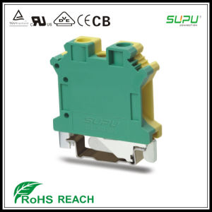 DIN Rail Mounted Terminal Blocks for Control Cabinet pictures & photos