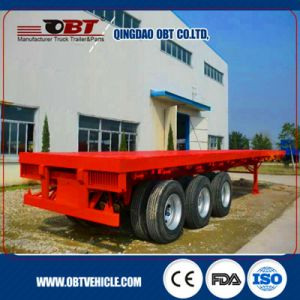 20 40 45 Feet Container Transport Flatbed Semi Trailer pictures & photos