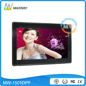 High Quality 15.6′′ Digital Photo Frame with Auto Video Play pictures & photos