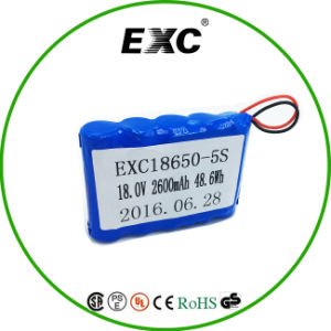 18650 Battery Pack 5s Seriesand Parallel 2600mAh 48.6wh for Model/Toys pictures & photos