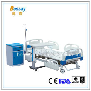 Medical 3 Cranks Manual Bed Hospital Manual Bed pictures & photos