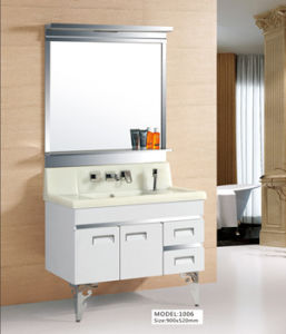 Modern Hanging High Gloss Stainless Steel Bathroom Cabinet (A6378) pictures & photos