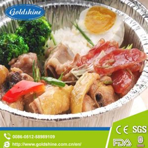 Round Aluminium Foil Food Container with ISO pictures & photos