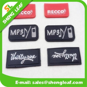 New Design Silicone Promotional Gifts Rubber Label (SLF-TM009) pictures & photos