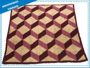 Single Geometry Fleece Wool Blanket pictures & photos