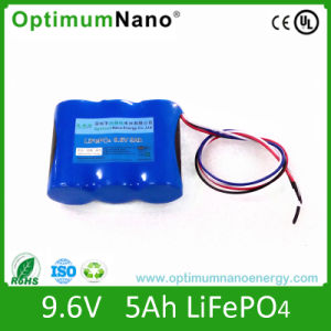 Deep Cycle 9.6V 5ah Lithium Battery for LED Light pictures & photos