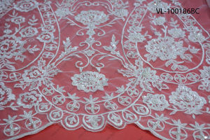 Factory Wholesale Lace Fabric Low Price Wedding Vl-100186-Bc