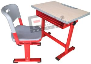 Colorful Red School Table Blue Chair Black Metal Frame Hot Saling School Furniture pictures & photos