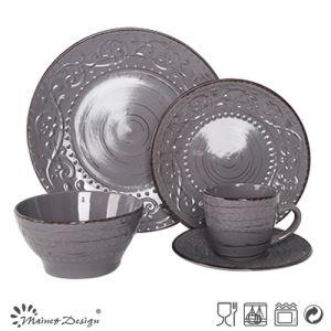 OEM Popular New Original Design Quality Products Embossed Ceramic Dinner Set pictures & photos