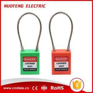 OEM Steel Wire Safety Padlock with Alarm pictures & photos