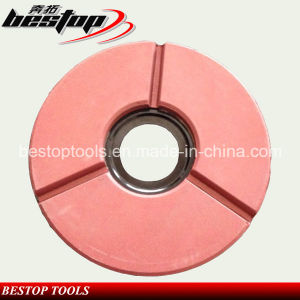 "10"" Red Buff Polishing Wheel for Granite Slab pictures & photos"