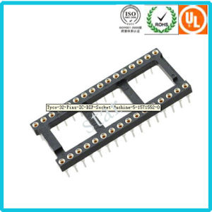 Factory Custom 2.54mm 32pin Double Row Pin Header IC Socket pictures & photos