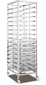 180kg Stainless Steel Shelf Trolley Bread Showcase (15) pictures & photos