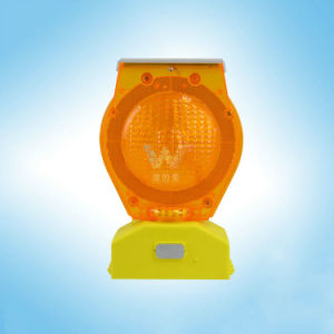 Customized Blue LED Warning Barricades Solar Flashing Light pictures & photos