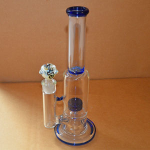 Blue Tyre Perk Glass Waterpipes with Matched Bowls