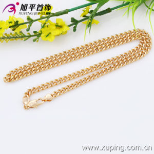 Imitaion Fashion Xuping 18k Gold -Plated No Stone Necklace in Environmental Copper-42639 pictures & photos