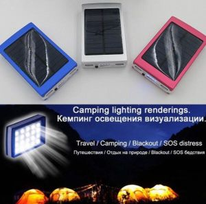 20000mAh Dual-USB Rechargeable Solar Power Bank 20LED Flashlight pictures & photos