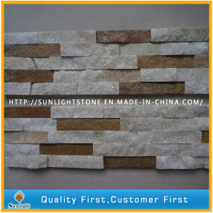 Natural Yellow/Rusty/White/Black Roofing Stone Veneer Wall Panel Quartzite Slate for Wall Cladding pictures & photos