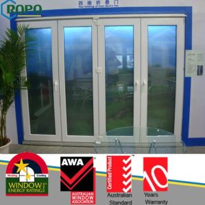 Multi-Panel Design Pvcu Bifold/Folding Doors with Double Glass pictures & photos