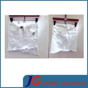 Size Skirts Fashion White Jean Petite Skirts for Girls (JC2120) pictures & photos