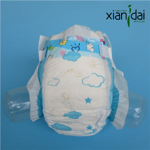 Baby Diaper with PE Film and Inported Sap