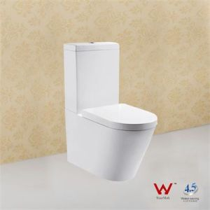 Durable Floor Mounted Ceramic Watermark Two Pieces Wc Toilet pictures & photos
