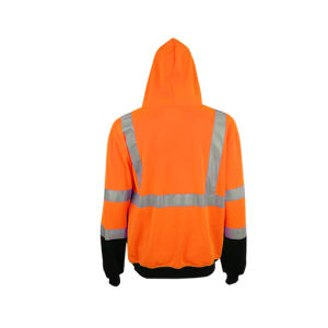 High Visibility Safety Sweatshirt with Reflective Tape pictures & photos