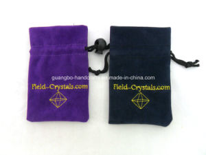 Custom Wholesale Velvet Drawstring Jewelry Pouches pictures & photos