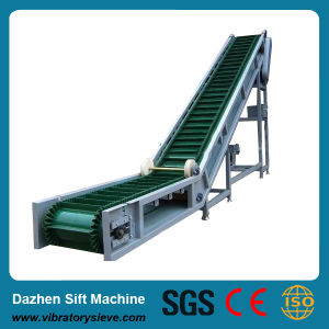 Large DIP Angle Belt Conveyor for Wood Chip pictures & photos
