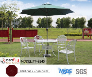 Big Aluminum Frame 2.7m Dia MID-Pole Garden Umbrella pictures & photos