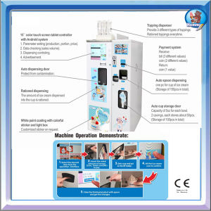GPS Self Service Vending Soft Ice Cream Machine HM931 pictures & photos