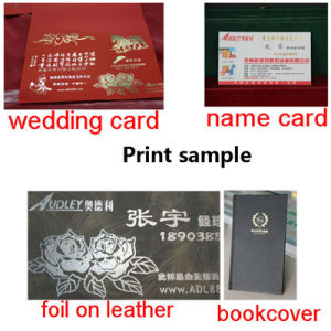 Hot Sale Diary Cover Gold Foil Printing Machine pictures & photos