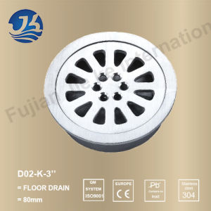 Stainless Steel Sanitary Accessories Round Basin Drainage (D02-K-3′′)