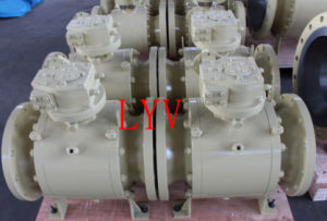 Worm Gearbox Flanged Trunion Stainless Steel Ball Valve pictures & photos