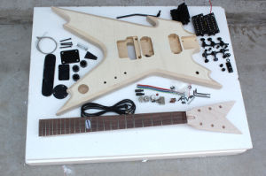 Hanhai Music / Unusual Shape Electric Guitar Kit with Flame Maple Veneer (DIY Guitar) pictures & photos