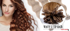 Factory Price Curly Style U Tip Keratin Hair pictures & photos